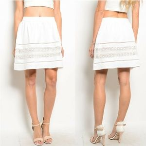 White Crochet Skirt {Very J}